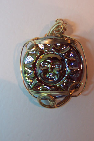 Glass Sun Pendant