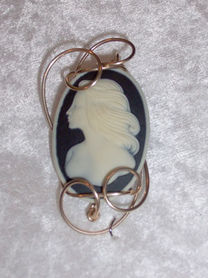 Fashion Resin Cameo pendant - SOLD