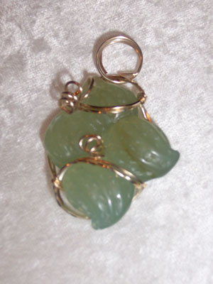 Carved Jade Peanuts Pendant - SOLD