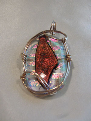 Dichroic Glass Pendant - Click Image to Close